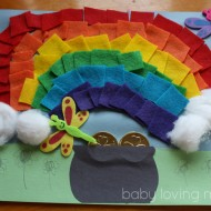 Felt Rainbow with a Pot of Gold:  A St. Patrick's Day Craft Tutorial