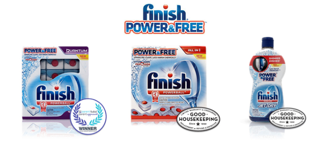 Finish Power & Free Dishwasher Products
