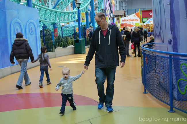 Nickelodeon Universe Mall of America Wes wearing Carters