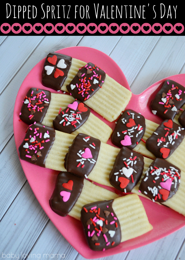 Chocolate Dipped Spritz For Valentine S Day Finding Zest