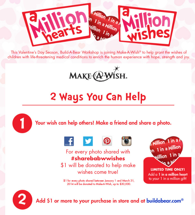 build a bear make a wish a million wishes