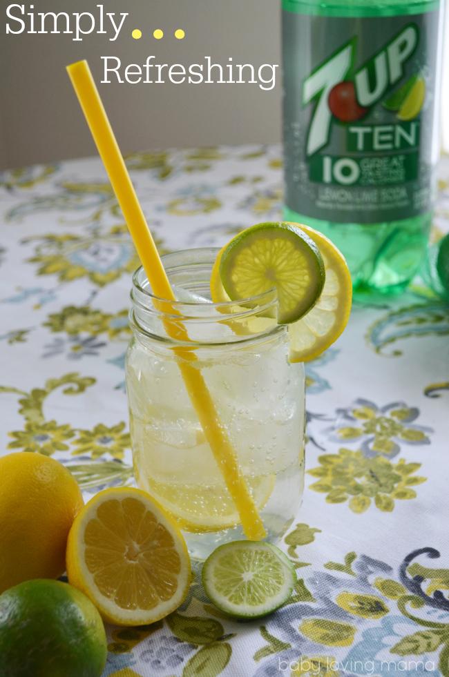 7UP TEN 10 Calories Refreshing