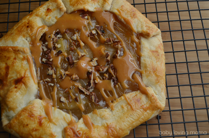 Caramel Apple Open Faced Pie Easy Recipe