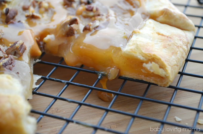 Caramel Apple Open Faced Pie