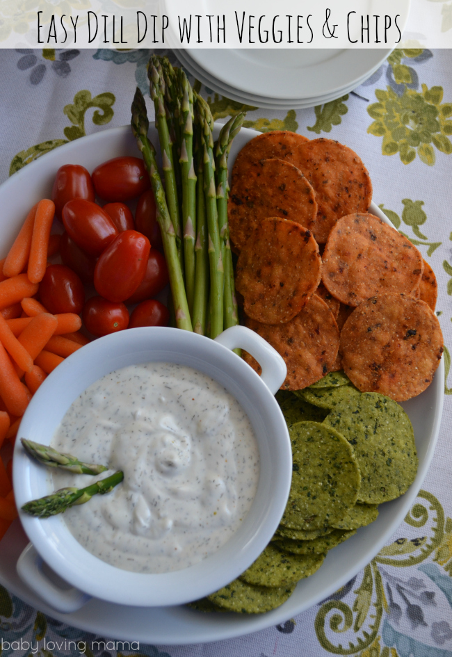 Dill Dip with Fresh Veggies and The Better Chip