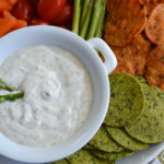 Easy Dill Dip Recipe with Veggies and The Better Chip #TBCInsider