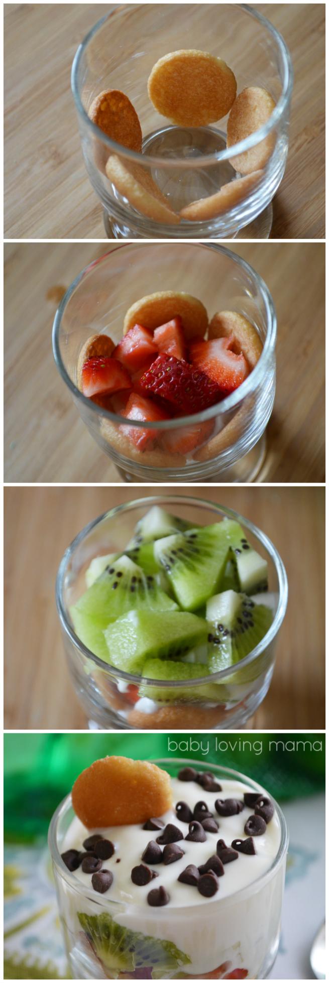 Fruit and Yogurt Parfait with Nilla wafers