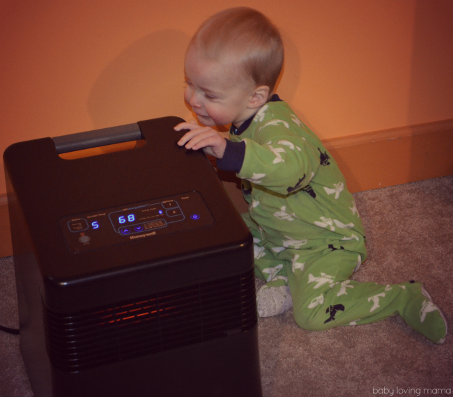 Honeywell MYEnergy Smart Infrared Space Heater Child Friendly