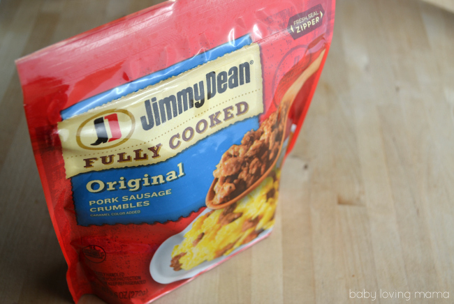 Jimmy Dean Fully Cooked Pork Sausage Crumbles Packaging