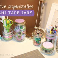 Creative Craft Storage with Washi Tape Jars: Spring Trends #craftmonthlove