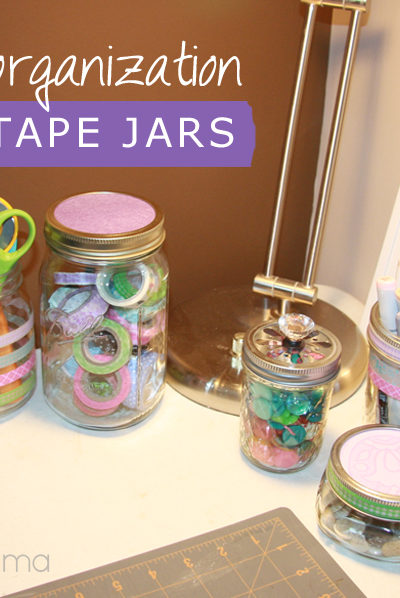 Creative Craft Storage with Washi Tape Jars: Spring Trends #craftmonthlove
