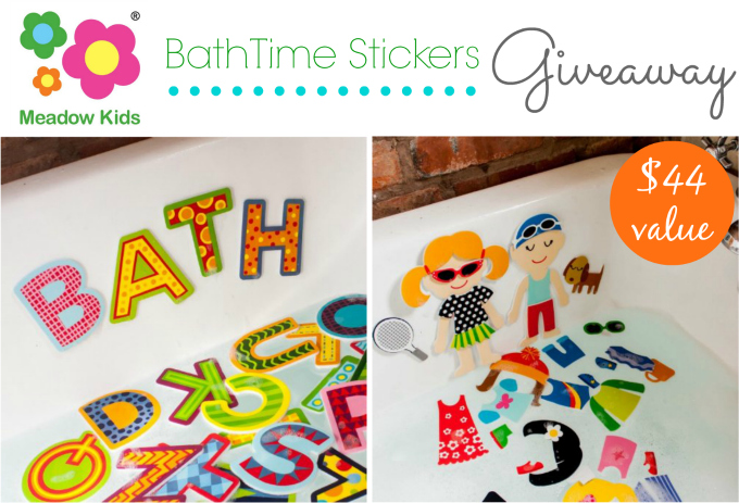 Meadow Kids Bath Time Stickers Giveaway