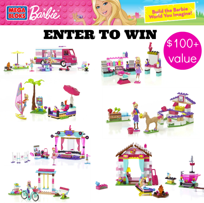 Mega Bloks Barbie Playset Giveaway