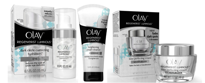 Olay Regenereist Luminous Product Line