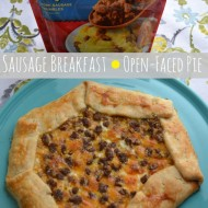 Open-Faced Sausage Breakfast Pie with Jimmy Dean #JDCrumbles