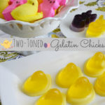 Two-Toned Gelatin Easter Chicks and Bunnies with Wilton and PEEPS #WiltonTreatTeam