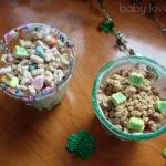 St. Patrick's Day Green Yogurt Fruit Parfaits
