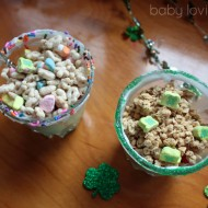 St. Patrick's Day Green Yogurt Fruit Parfaits
