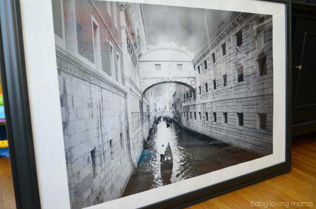 Big Stock Photo Venice Framed in Black and White