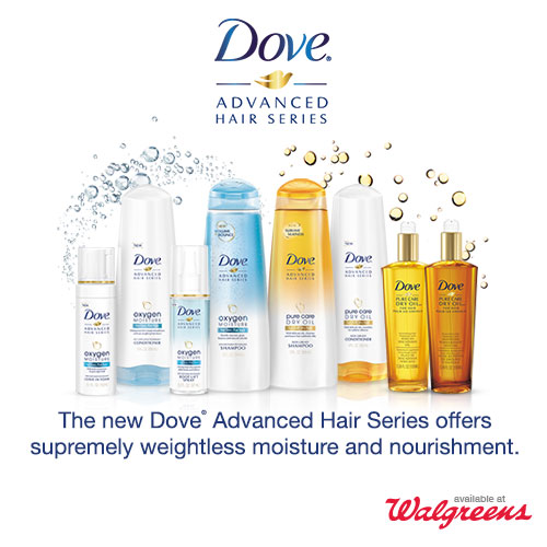 Dove Advanced Hair Series at Walgreens + Twitter Party 4/16 @ 8PM EST #WeightlessHair