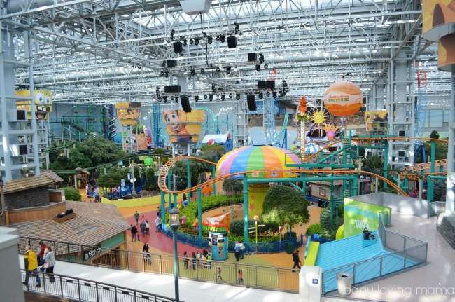Mall of America Nickelodeon Universe View from Food Court