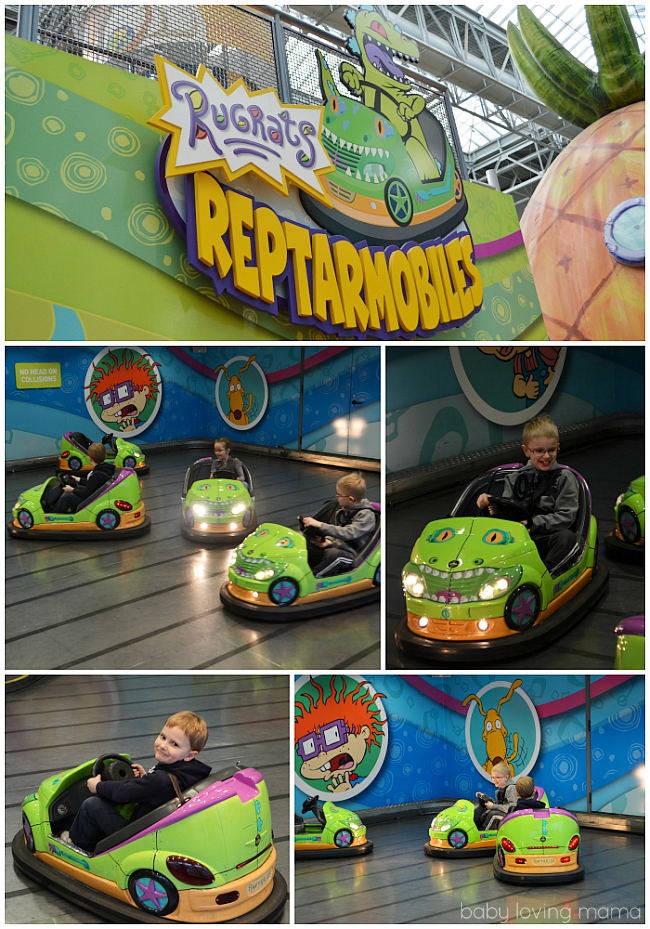 Nickelodeon Universe Mall of America Rugrats Reptarmobiles
