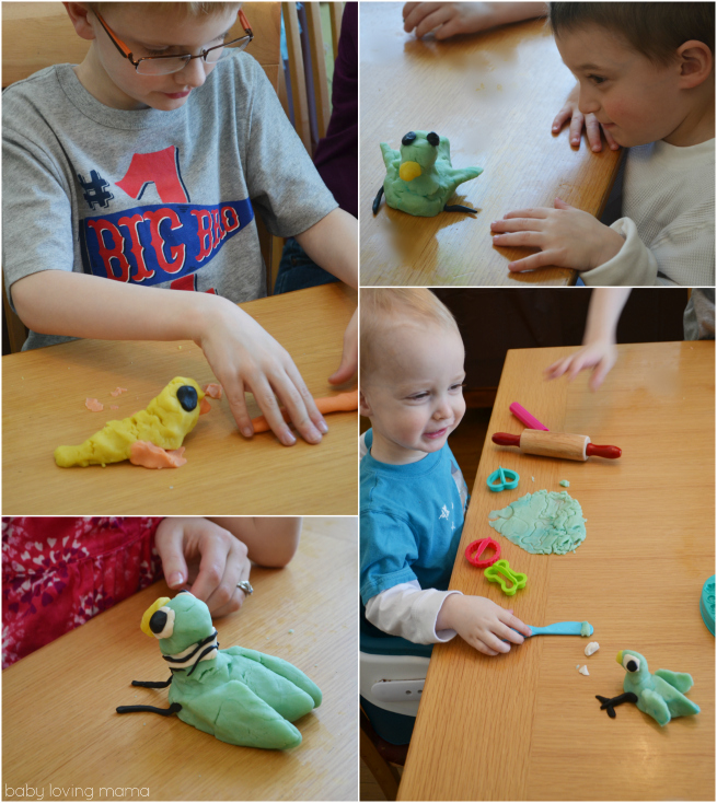 Pigeon Party Mo Willems Playdough Activity Collage