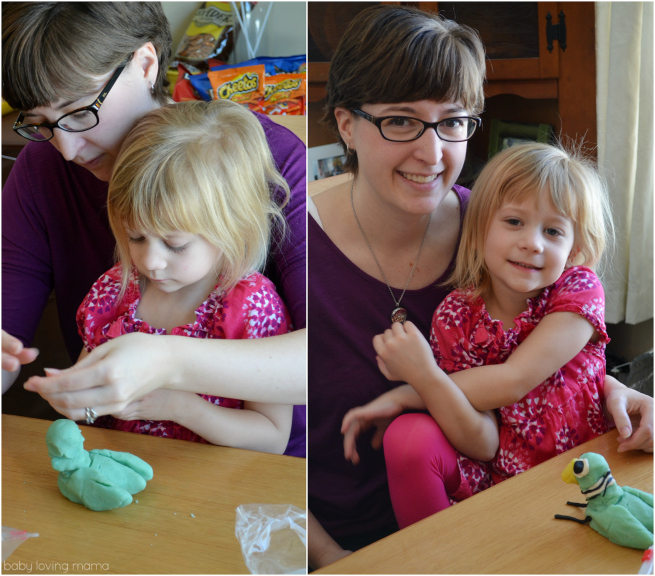 Pigeon Party Mo Willems Playdough Activity Janelle and Nora