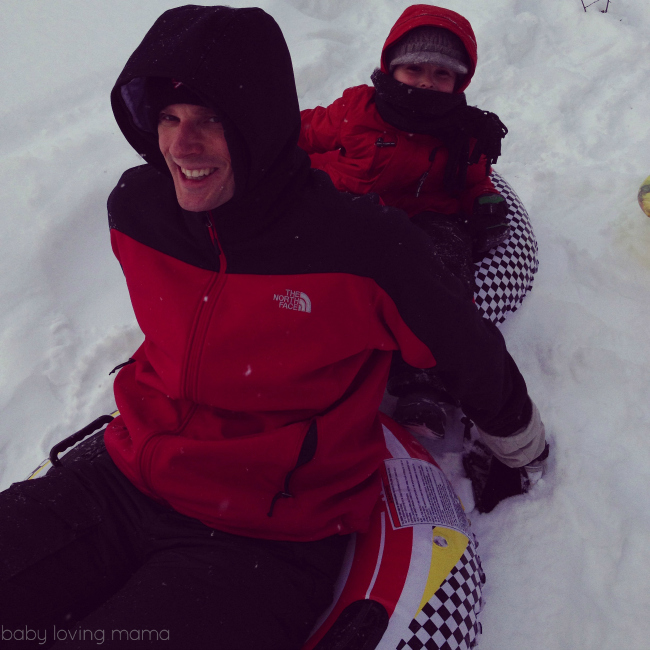 Joe Sledding with Boys