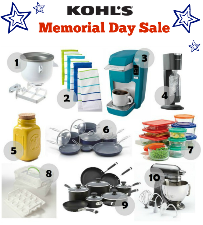 Kohls Memorial Day Sale Kitchen Deals