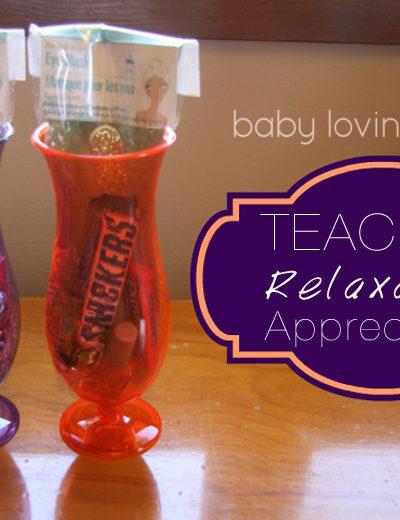 Teacher Relaxation Appreciation Gift Idea
