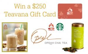 Teavana Oprah Chai Tea Starbucks Giveaway