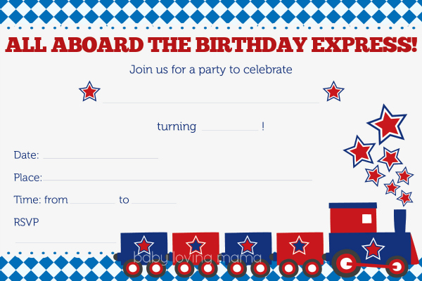 train birthday party invitations free printables finding zest
