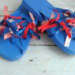 Patriotic Flip Flops : Affordable and Easy Craft Tutorial