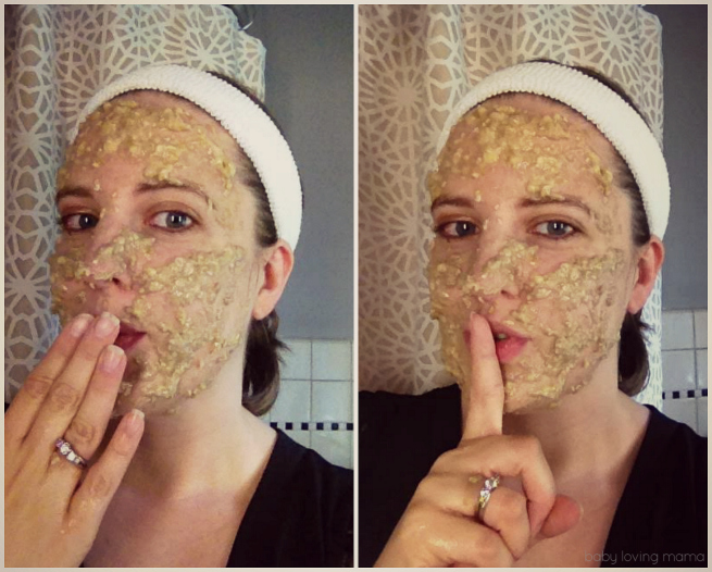 Dawn Oatmeal Banana Mask on Face
