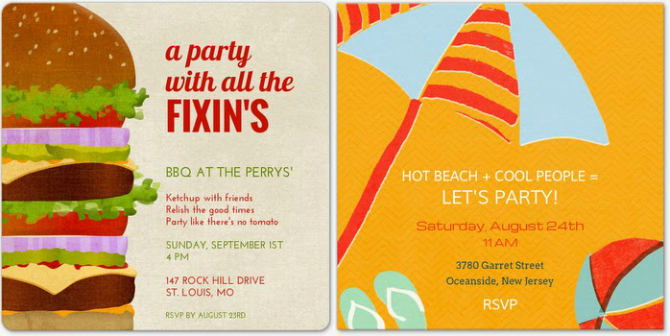 Evite Summer Party Invites