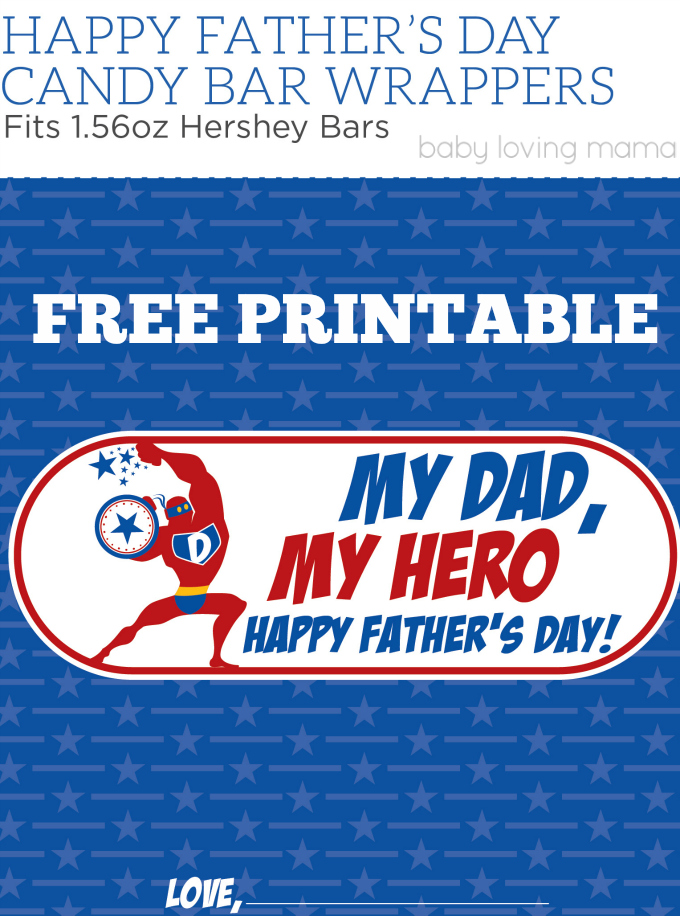 graphic regarding Printable Hershey Bar Wrappers known as Fathers Working day Cost-free Printable Sweet Wrapper: My Father, My Hero
