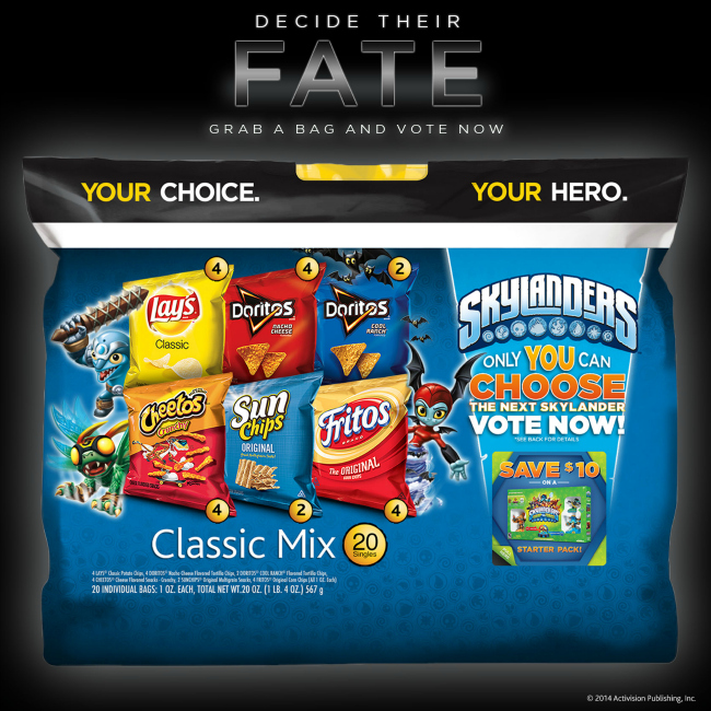 Frito Lay Multipack Skylanders Vote