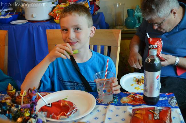 Frito Lay Skylanders Party Guests Eating