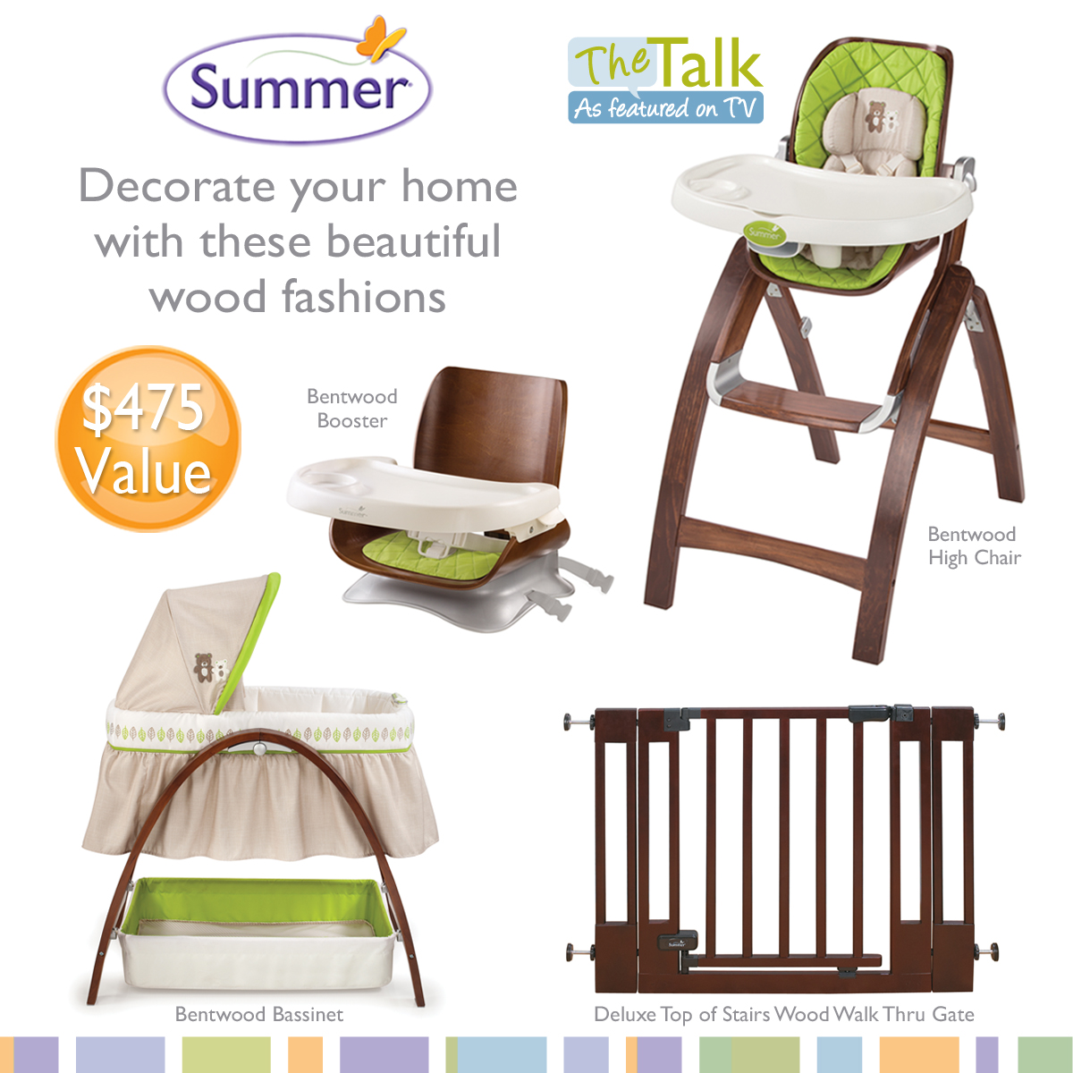 Charmant Summer Infant Sweepstakes The Talk. The Bentwood High Chair ...