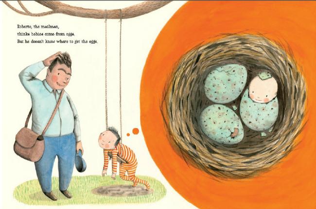 The Baby Tree Interior Spread Eggs