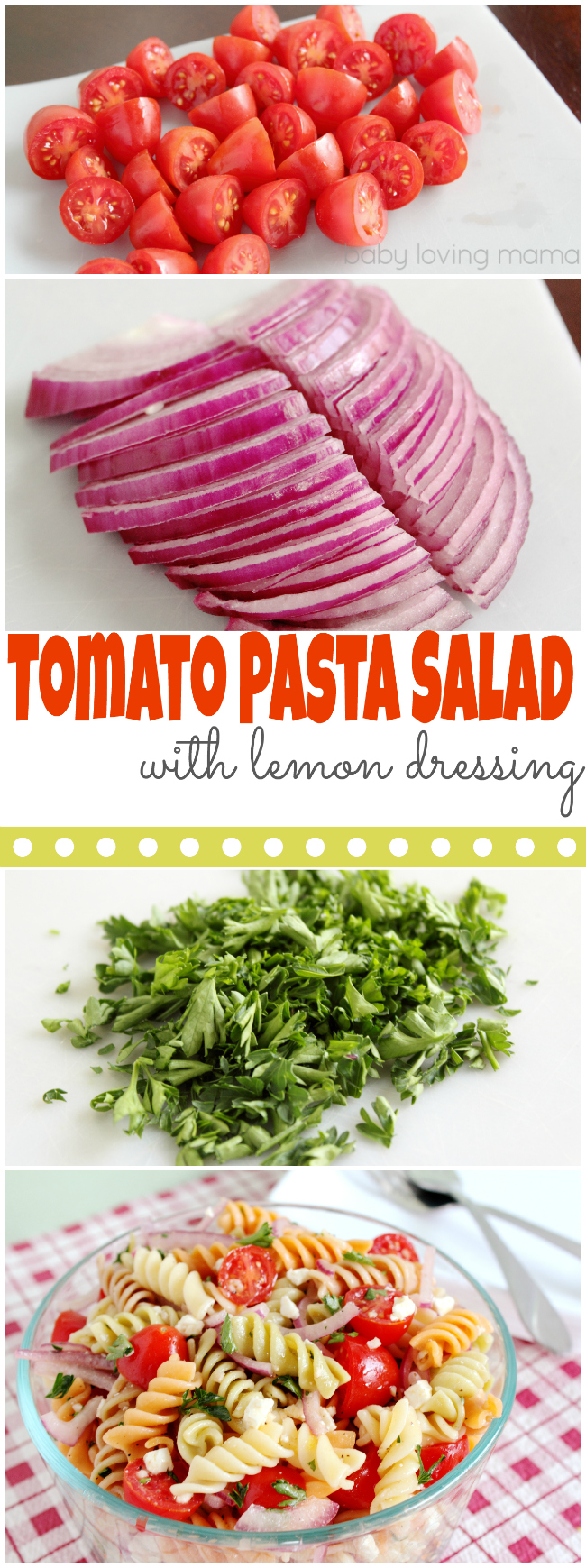 Tomato Pasta Salad with Lemon Dressing