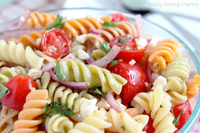 Veggie Pasta Salad with Lemon Dressing