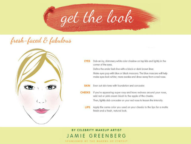 Zyrtec Allergy Face Get The Look Fresh Faced and Fabulous Jamie Greenberg
