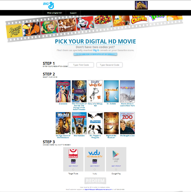 Big G Cereal Free Movies
