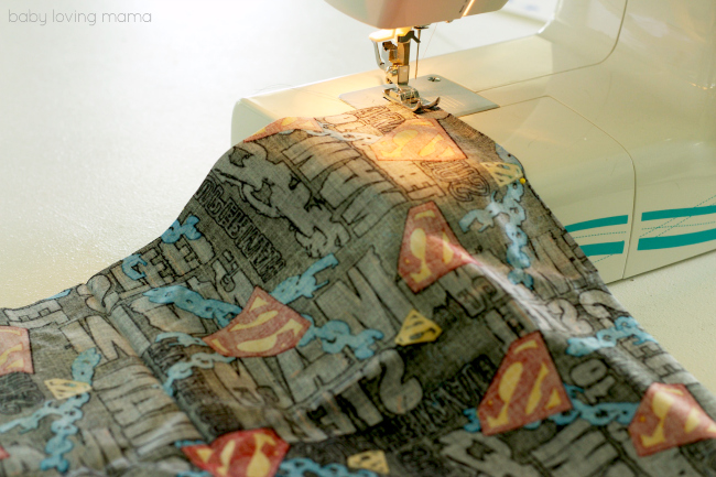 Boys Superhero Apron Sewing