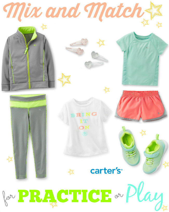 Carters Activewear for Girls Mix and Match for Practice Play