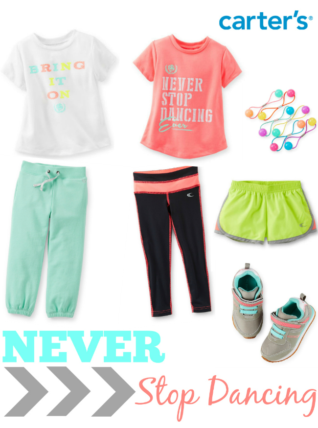Carters Girls Activewear Never Stop Dancing Board