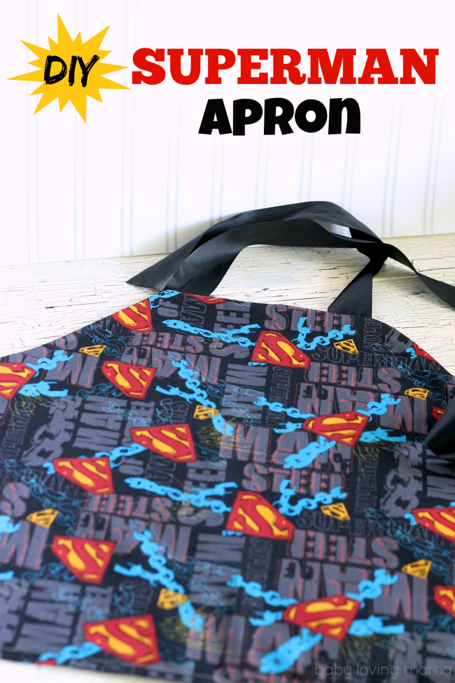 DIY Boys Superman Apron