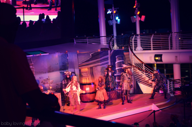 Disney Dream Pirate Night Jack Sparrow Show